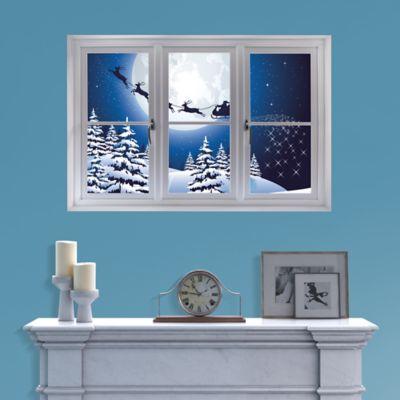 Santa Sleigh: Instant Window Fathead Wall Decal