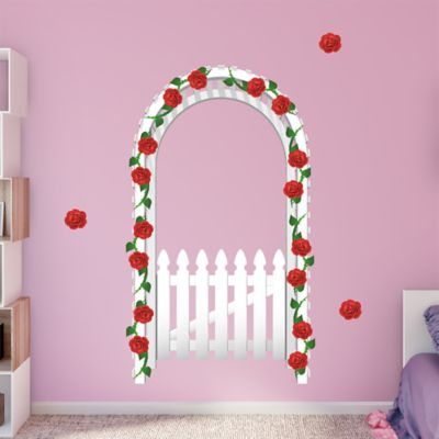 White Arbor Fence Fathead Wall Decal