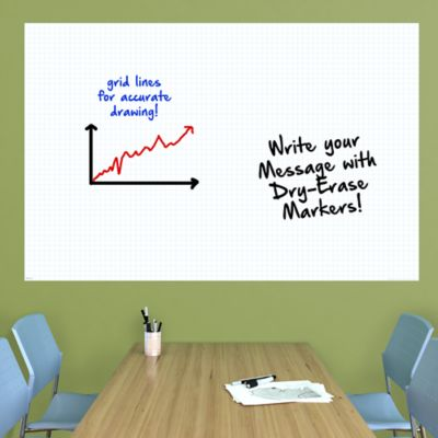 kDry Erase Graph White Board wall decal