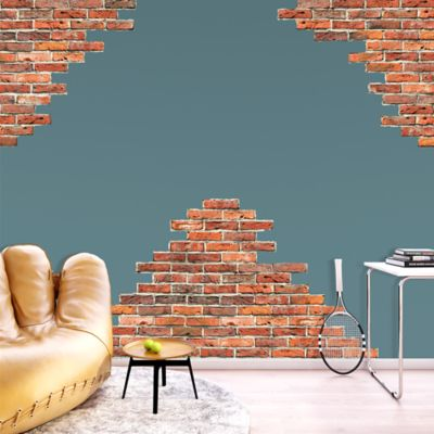 horizontal brick wall accents wall decal shop fathead damask wall accent stickers wall mask decals damask style
