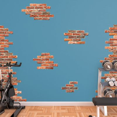 Vertical Brick Wall Accents Fathead Wall Decal