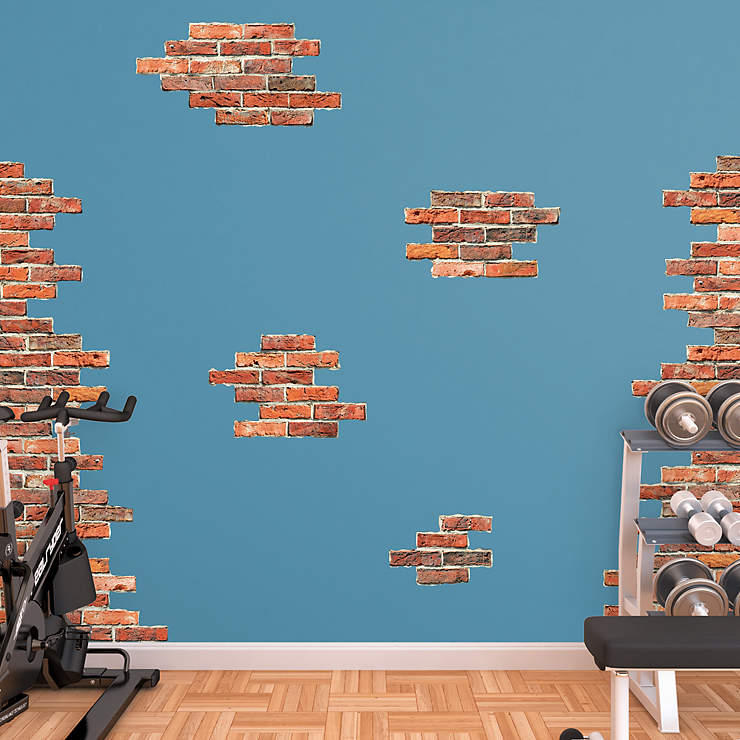 Vertical Brick Wall Accents Wall Decal