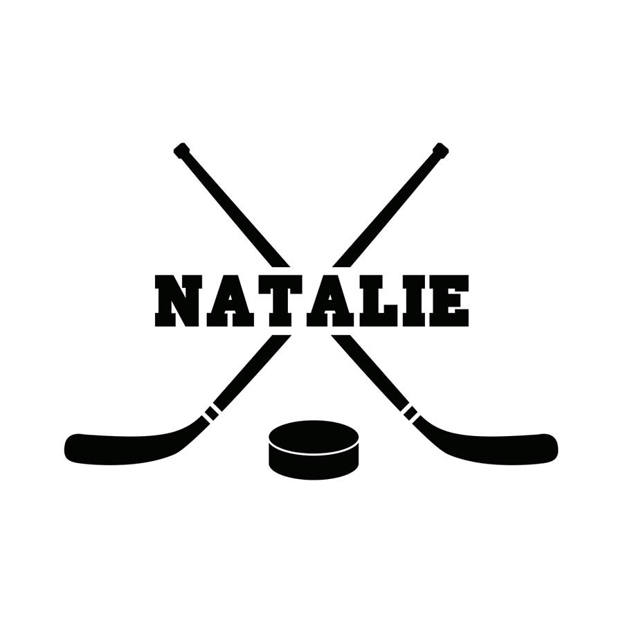 Hockey Wall Decal Large Decal Custom Name Decal Boys: Hockey Personalized Name Wall Decal
