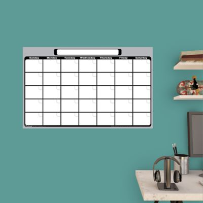 medium 1 month dry erase calendar wall decal shop fathead for dry erase whiteboards