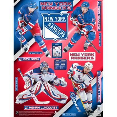 New York Rangers Power Pack Fathead Wall Decal