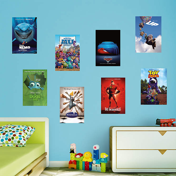 Pixar movie poster murals collection wall decal shop for Disney pixar cars wall mural
