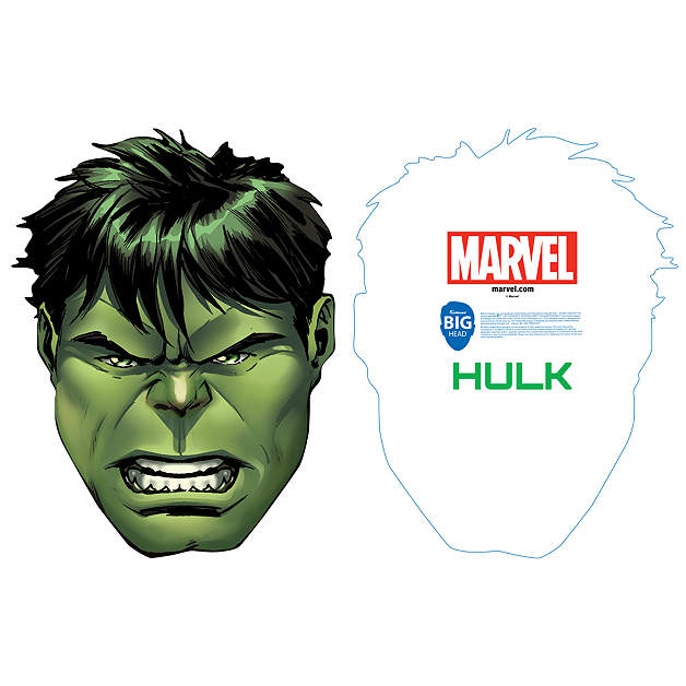 Incredible hulk big head cut out shop fathead for the for Incredible hulk face template
