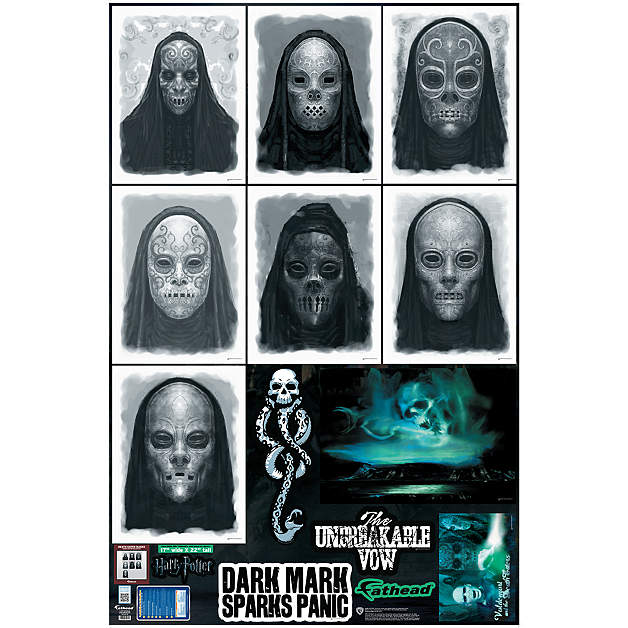 Death Eaters Mask Portrait Collection Wall Decal Shop