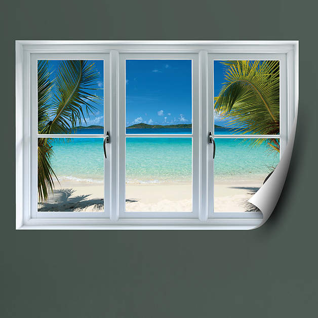 Virgin Islands Beach Instant Window Wall Decal Shop