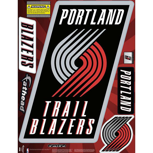 Portland Trail Blazers Art: Portland Trail Blazers Street Grip Outdoor Decal