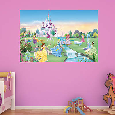 Cinderella from rags to riches wall decal shop fathead for Disney princess mini mural