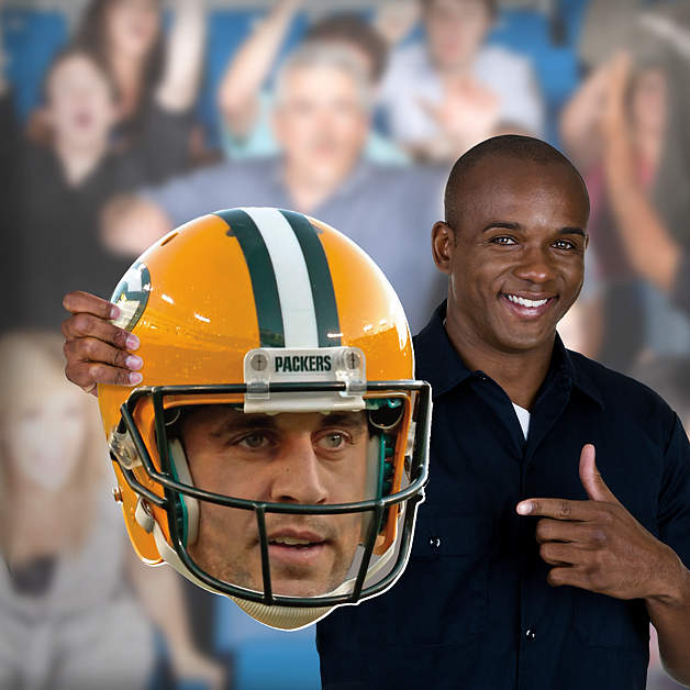 Aaron Rodgers Big Head Cut Out