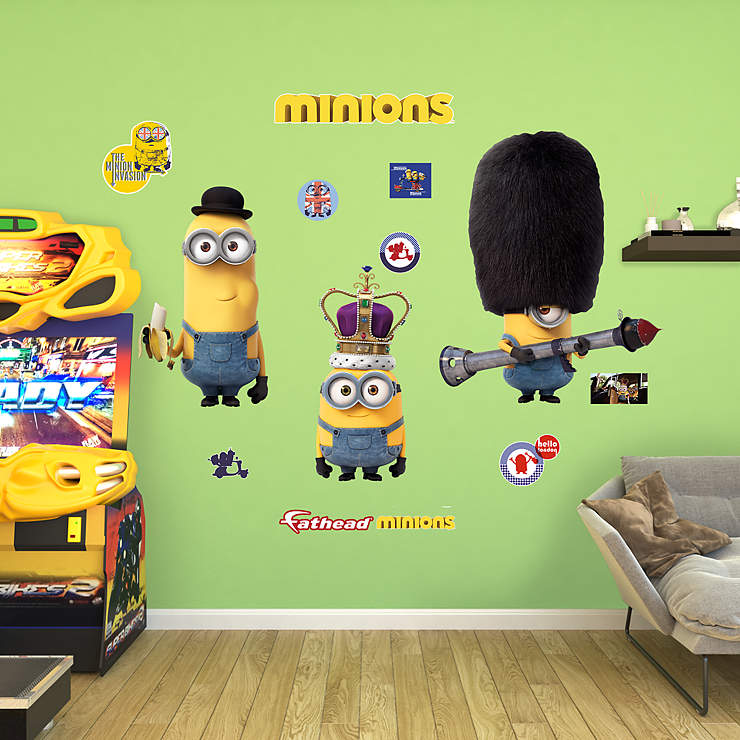 Minions British Invasion Collection Wall Decal | Shop ...