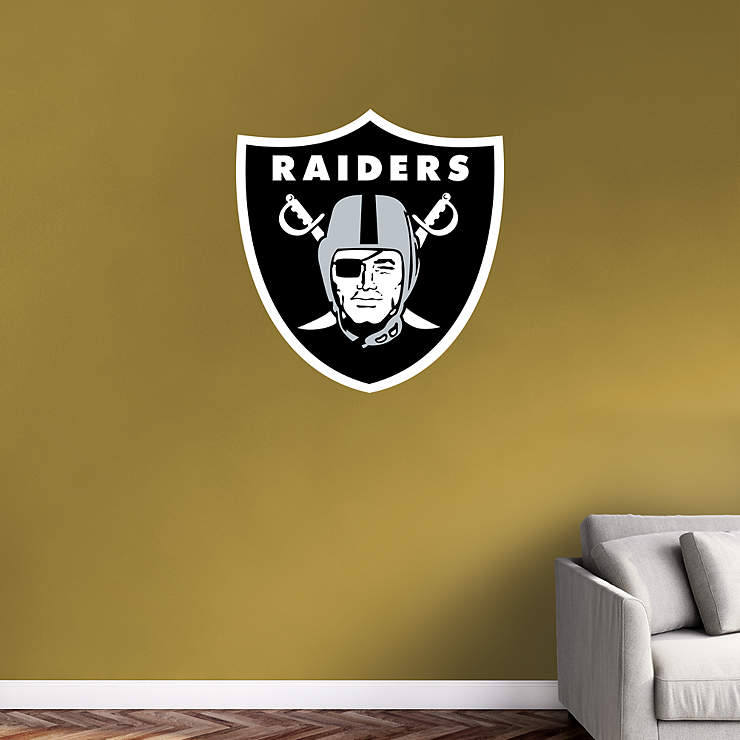 Oakland Raiders Logo Wall Decal Shop Fathead 174 For