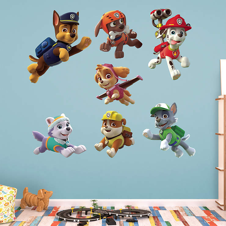 paw patrol puppies collection wall decal shop fathead. Black Bedroom Furniture Sets. Home Design Ideas