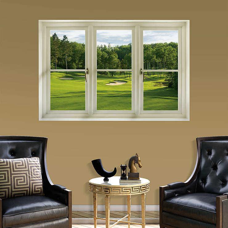 Office Pictures For Walls Golf: Spring Golf Tee Box: Instant Window Wall Decal