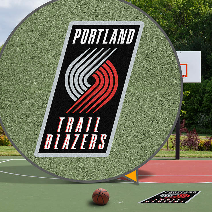 Portland Trail Blazers Street Grip Outdoor Decal