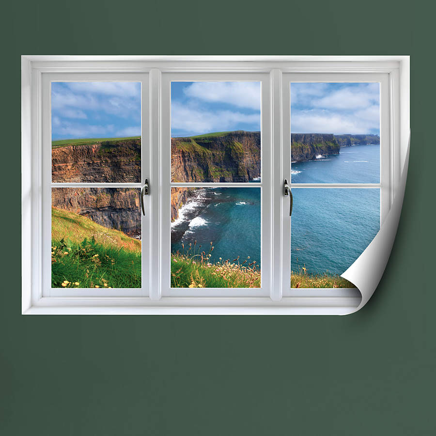 Instant Window Decals : Irish cliffs instant window wall decal shop fathead
