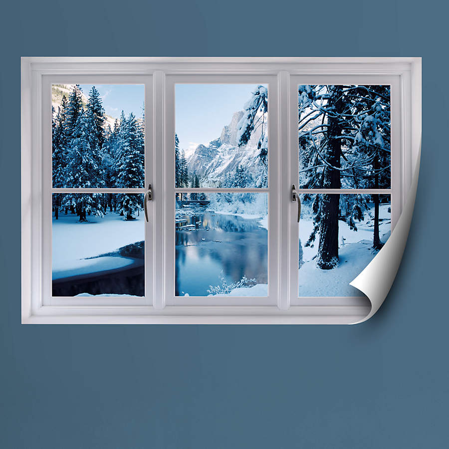 Merced River In Winter Instant Window Wall Decal Shop