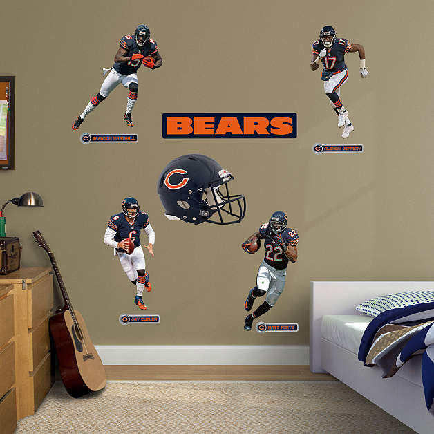 Chicago Bears Home Decor: Chicago Bears Power Pack Wall Decal Set