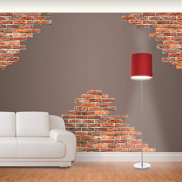 Vertical Brick Wall Accents Wall Decal: Horizontal Brick Wall Accents Wall Decal