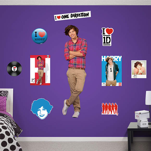 life size harry styles one direction wall decal shop fathead for one direction decor. Black Bedroom Furniture Sets. Home Design Ideas