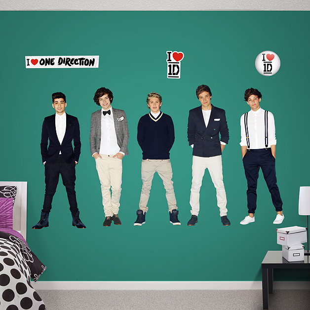 life size one direction collection wall decal shop fathead for one direction decor. Black Bedroom Furniture Sets. Home Design Ideas