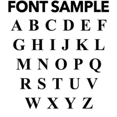 Classic Serif Personalized Monogram Fathead Wall Decal
