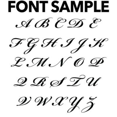Elegant Script Personalized Monogram Fathead Wall Decal