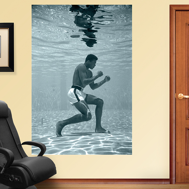 Muhammad Ali Underwater Training Mural Wall Decal Shop