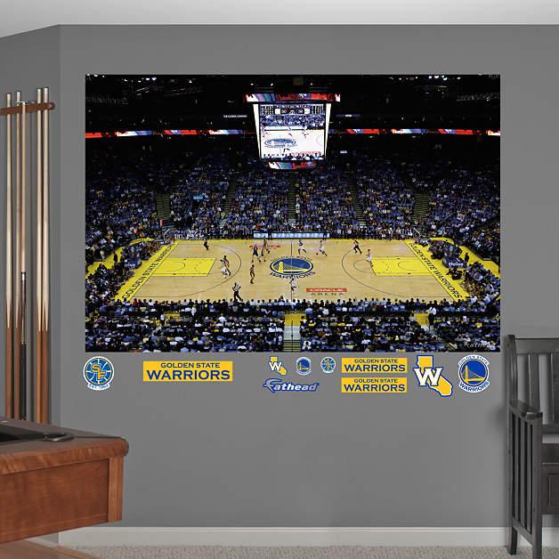 Gs Warriors New Stadium: Golden State Warriors Arena Mural Wall Decal