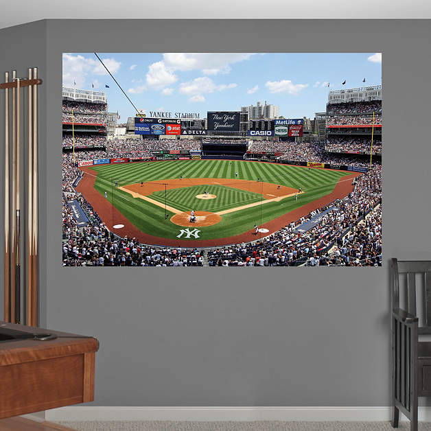 New York Yankees Home Decor: Behind Home Plate At Yankee Stadium Mural Wall Decal