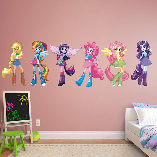 Najarian Nba Youth Bedroom In A Box: My Little Pony Equestria Girls Collection Wall Decal