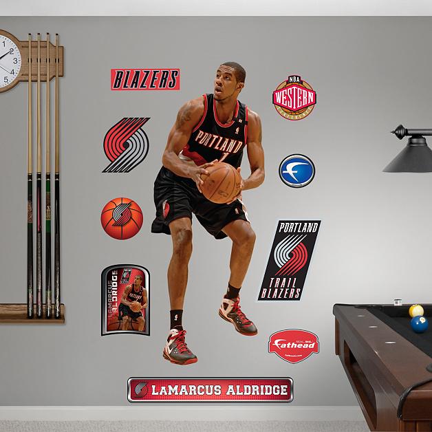 Blazers Portland Posters: Life-Size LaMarcus Aldridge Wall Decal