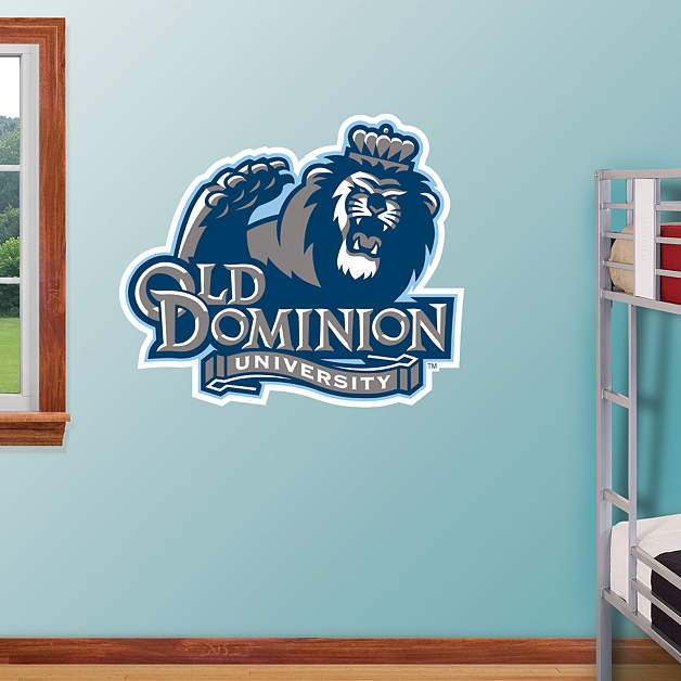 dominion card template - old dominion monarchs logo wall decal shop fathead for