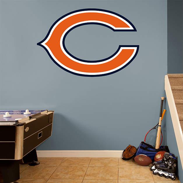 "Chicago Bears Home Decor: Chicago Bears ""C"" Logo Fathead Wall Decal"
