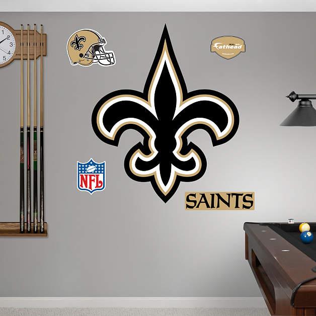 New Orleans Saints Home Decor: New Orleans Saints Logo Wall Decal