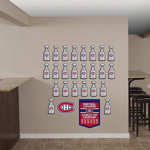 Montreal Canadiens Stanley Cup Collection Wall Decal