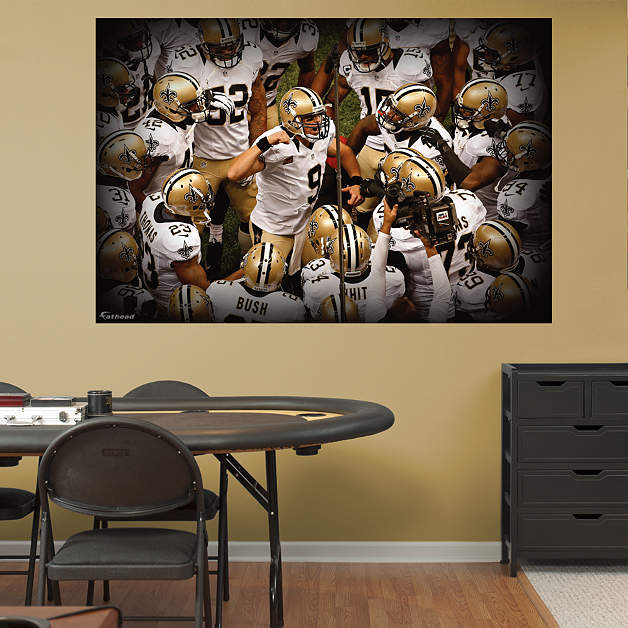 New Orleans Saints Home Decor: New Orleans Saints Team Mural Wall Decal