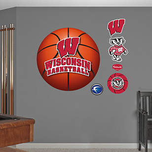 Wisconsin Badgers Basketball Logo Wall Decal Shop