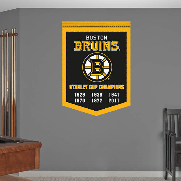 Boston Bruins Stanley Cup Champions Banner Wall Decal