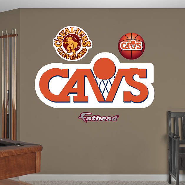 Cleveland Cavaliers Fans Scale Walls To Get Photos Of Nba: Cleveland Cavaliers Classic Logo Wall Decal