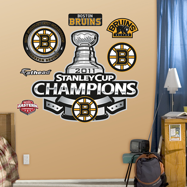 Boston Bruins 2011 Stanley Cup Champions Logo Wall Decal