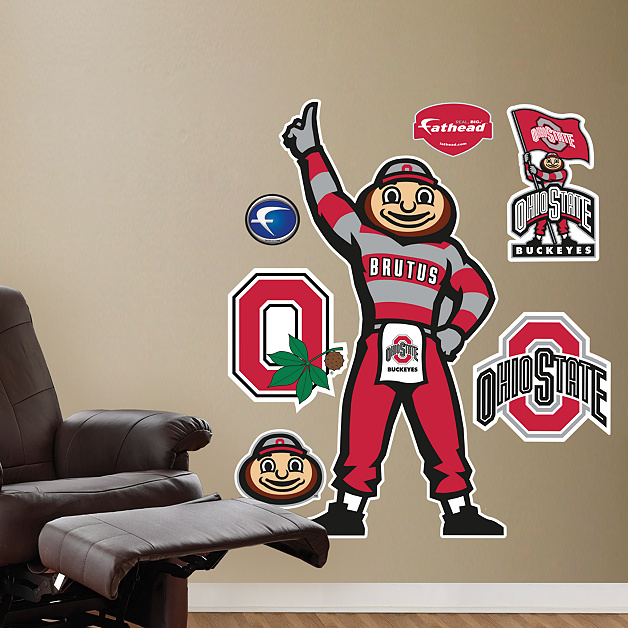 Ohio State Mascot Brutus Buckeye Wall Decal Shop