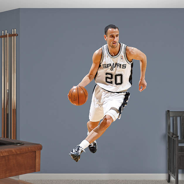 Life Size Manu Ginobili Wall Decal Shop Fathead 174 For San