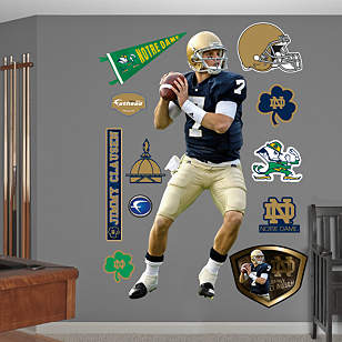 Life Size Jimmy Clausen Notre Dame Wall Decal Shop
