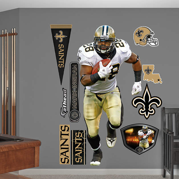 New Orleans Saints Home Decor: Life-Size Mark Ingram Wall Decal