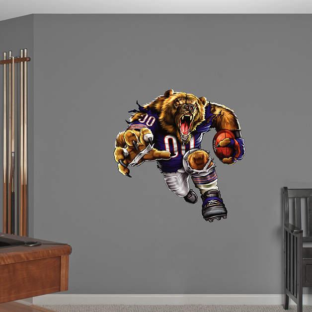 Chicago Bears Home Decor: Bruiser Bear Fathead Wall Decal