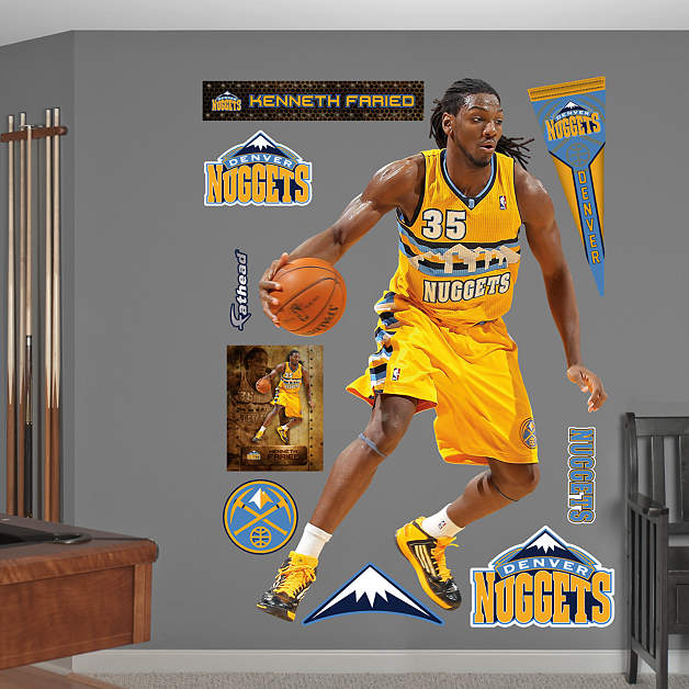 Nba To Nfl Crossover Nuggets Forward Kenneth Faried: Life-Size Kenneth Faried Wall Decal