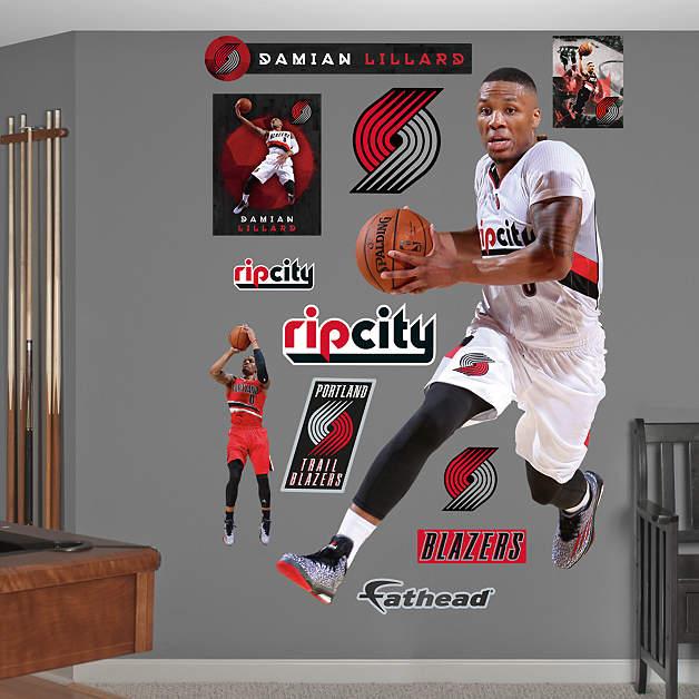 Blazers Portland Posters: Life-Size Damian Lillard - No. 0 Wall Decal